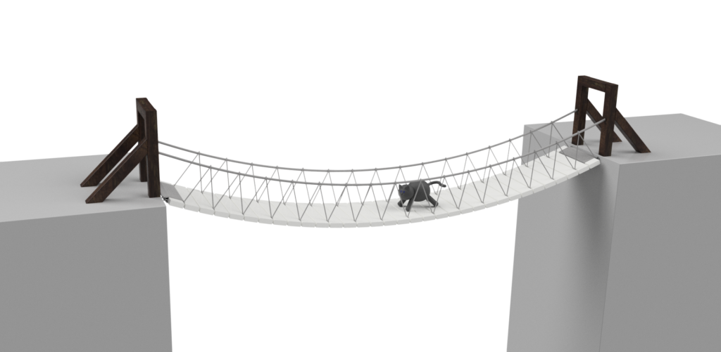 Rope Bridge Full Project Engineering For Cats